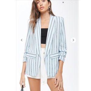 Jackets & Blazers - Striped Print Blazer